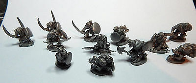 Grenadier 9005 orcs  AD and D late 1990 OOP rare x12 stripped