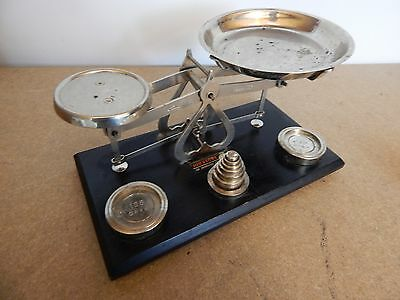 Vintage Johnson of Hendon set of scales Boxed with Metric weights