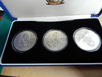 Set Of 3 Mexican 100 Peso's .72 Silver coins 27 gr each uncirculated condition