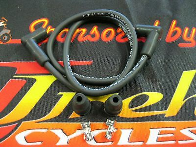 Ultima Black 8mm Suppression Core Plug Wire Kit for Most H-D Models