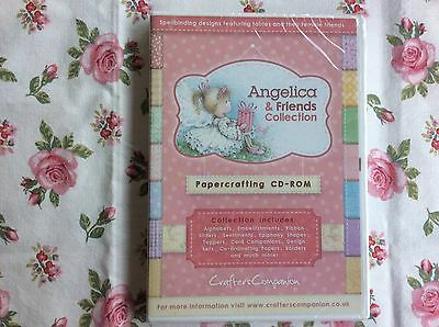 Crafters Companion Angelica & Friends Paper crafting CD-ROM