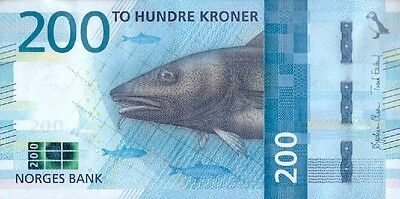 Norway 200 Kroner P-New 2017 (2016) Unc