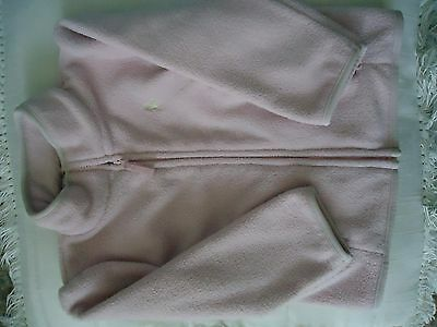 Ralph Lauren pale pint fleece zip up jacket for 18 month girl