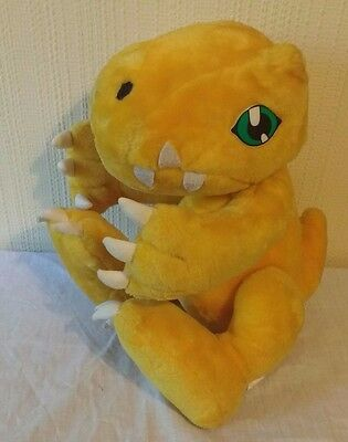"""Digimon - Play by Play Agumon Plush/Soft Toy Vintage Rare 16"""" Large 1999"""