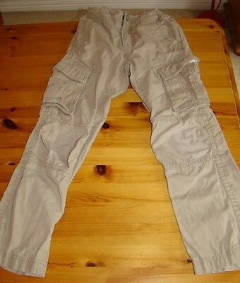 GAP Boys beige cargo trousers age 7 years old