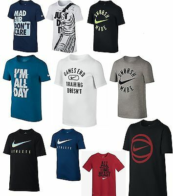 Nike Boy's Dri-FIT Cotton Short Sleeve Shirt
