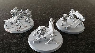 Warhammer Necromunda Cawdor Imperial Guard Cultist x3 Heavy Weapons