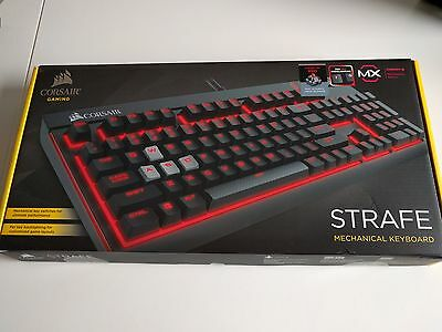 Corsair Gaming STRAFE MX Cherry Red, Red Backlit Mechanical Keyboard