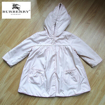 BURBERRY BABY Pink Jacket, with Burberry Check Elbow Patches Age 12 Months