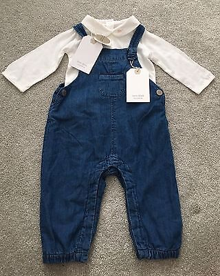 New with Tags Zara Baby Denim Dungarees And Zara Top 3-6 Months