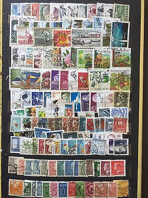 Large Lot Sweden  Stamps All Different Used