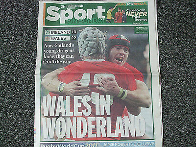 Newspaper pullout Rugby World Cup  2011