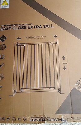 pressure fit safety gate,easy close extra tall