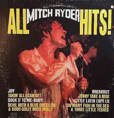 All Mitch Ryder Hits LP New Voice Orig ~ Psych / northern soul