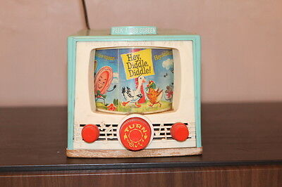 Fisher Price Toys Peek A Boo Screen Tv Vintage Toy 1964 Works V/Rare