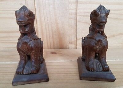 2 african dog ornaments