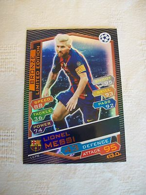 "Champions League Match Attax 16 - 17 = Lionel Messi ""Bronze"" Limited Edition"
