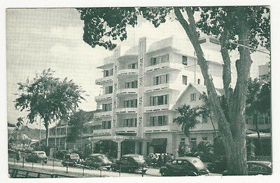 OLD B.W.I. POSTCARD The Queen's Park Hotel Port-of-Spain TRINIDAD B. WEST INDIES