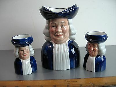 Set of three Quaker Oats Toby Jugs. Woods and Son