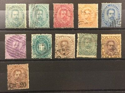 1879-1889 Italy used selection of nice stamps cat val £100+