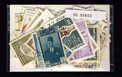 Syrie - Syria 50 timbres différents