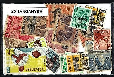 Tanganyka 25 timbres différents