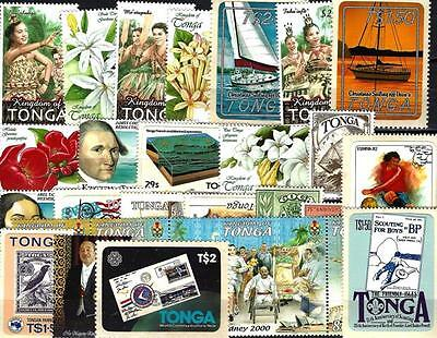 Tonga 100 timbres différents