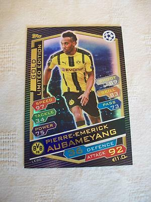 Champions League Match Attax 16-17 = Pierre-Emerick Aubameyang Gold Limited Edit