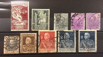 1922 Italy onwards nice selection of MH and used stamps