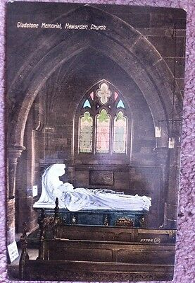 Tomb Of William Ewart Gladstone Hawarden Church Prime Minister Old Postcard