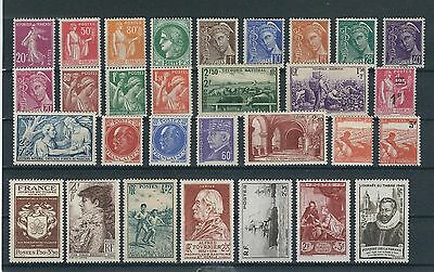 TIMBRES FRANCE NEUFS** ANNEES 1924-1946 (Lot 13)