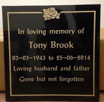 Granite cremation memorial stones  300mm x300mm x 30m very high quality stone