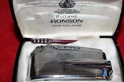 Vintage Ronson Lighter in original case with a brush