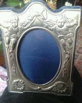 Silver Hallmarked Vintage Photo Frame Confining Angles