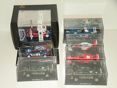 Joblot of 7 rally, Le Mans and F1 cars - 1/43 scale - Ixo, RBA collectibles
