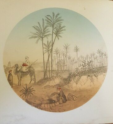 Vintage Arab / Middle East Drawing Picture