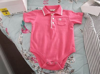 Babies Pink Body T Shirt Age 9-12 Month By Penguin In Beautiful Condition