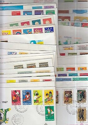Suriname nice collection of 40 different FDC's
