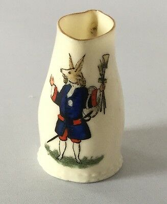 Goss China Jug  With Model Of Black Jack At Winchester College Crest