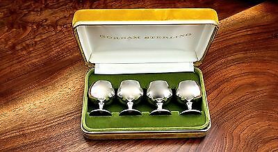 Gorham Co. Sterling Silver 4 Cordial Cups in Original Box: Pattern 955 No Monos
