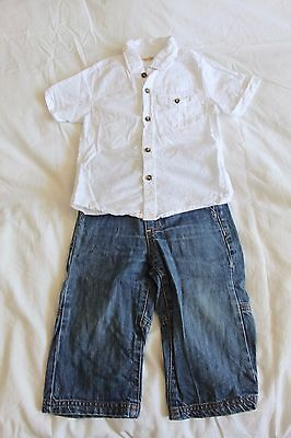 Next baby boy shirt and Jojo jeans 12-18 months