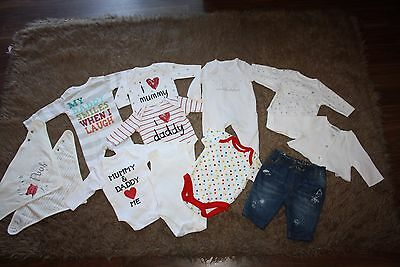 Unisex Baby Clothes Bundle Age: Newborn / First Size....(12 Items)
