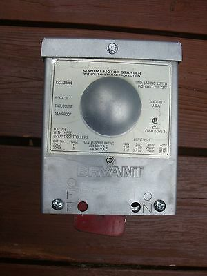 Bryant Manual Motor Starter without overload protection  Cat. 30300