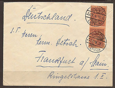 Latvia. 1928. Cover. Aizpote To Germany.