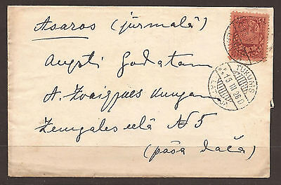 Latvia. 1926. Cover With Tukums Cancel And Melluzi On Reverse.