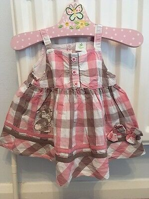 Disney Pink Checked Girls 3-6 Month Bunny Top Tunic