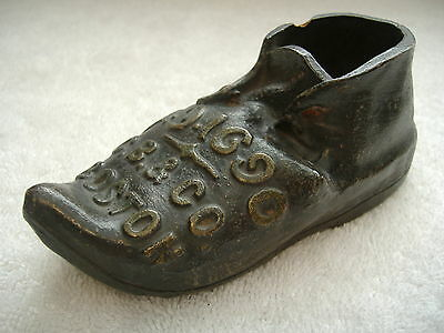 Vintage Redware Pottery Shoe, A.D. 1690, Church Brown & Co, Boston, Rare Antique