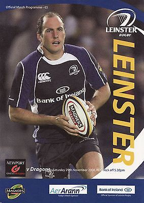 Leinster Rugby v Newport Gwent Dragons - Magners League Programme 2008