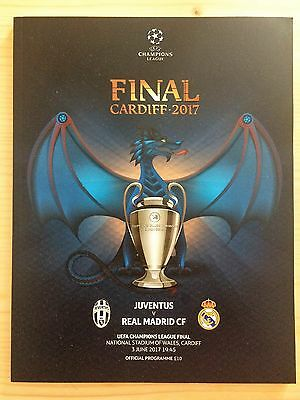 2017 Uefa Champions League Final Programme *juventus V Real Madrid* (03/06/2017)