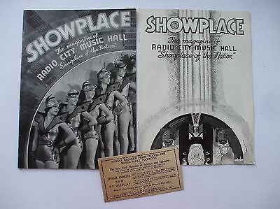 Vintage Radio City Music Hall Programs 1930s + Stub for NY Museum of Science